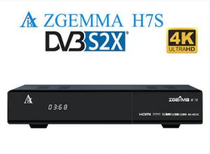 Zgemma H7(西格玛)4K新机 全新博通BCM7251S双核CPU,开源Enigma2系统,双卫星S2x+S2x+T2/C接收,支持H265/HECV/4K,支持AVS+,支持PV