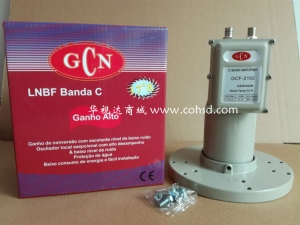 GCF2102 单本二输出C波段高频头 2口独立输出 适合多星多机